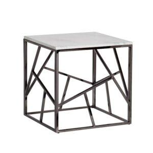 Приставной стол Serene Furnishing Dark Chrome Marble Top
