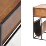 Тумба Industrial leather magazine rack   - фото 2