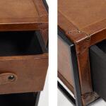 Тумба Industrial leather magazine rack   - фото 3