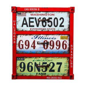 Тумба Car Plate Numbers