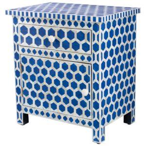 Тумба Midnight Blue Hexagon inlay cupboard 2 Drawer