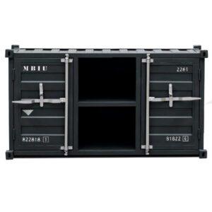 ТВ тумба Loft TV Sea container черный металл