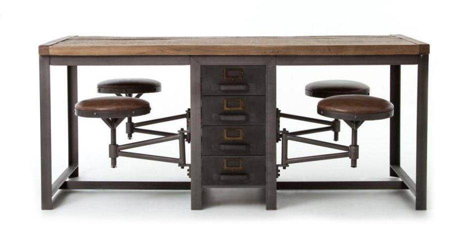 Большой рабочий стол Rupert Work Table Rustic   - фото 3