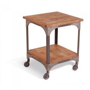 Журнальный стол Industrial Metal Rust Lamp Table