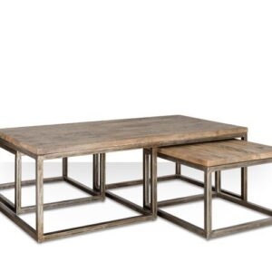 Журнальный стол Industrial Metal Rust Triple Table