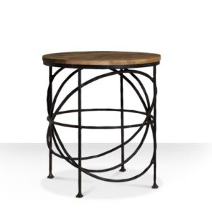 Журнальный стол Industrial Rust Round Sphero Table