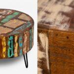 Журнальный стол Multicolored Antique Wood Circle  - фото 2