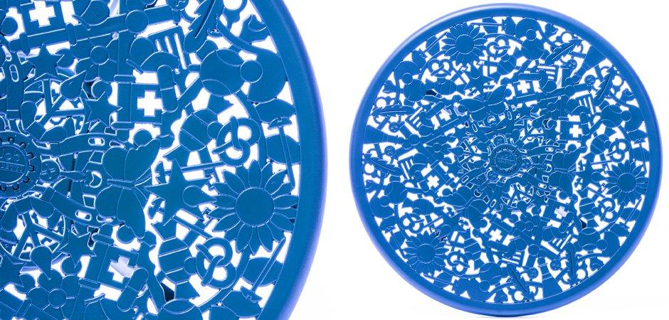 Обеденный стол Seletti Industry Collection ALUMINIUM TABLE – SKY BLUE  - фото 2