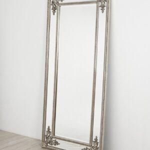 Серебряное напольное зеркало «Венето»
