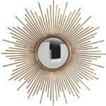 Настенное круглое зеркало в раме