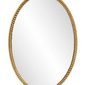 Овальное золотое зеркало «Джанет»