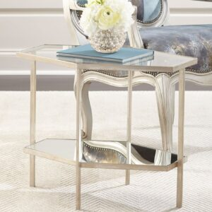 Серебряный журнальный стол