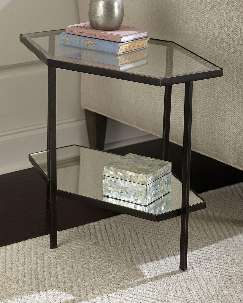 Черный журнальный стол