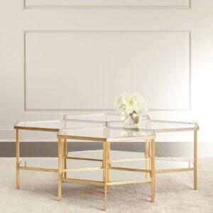 Золотой журнальный стол «Остин»