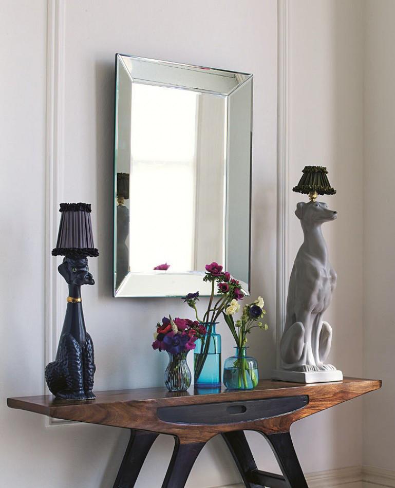 Прямоугольное настенное зеркало