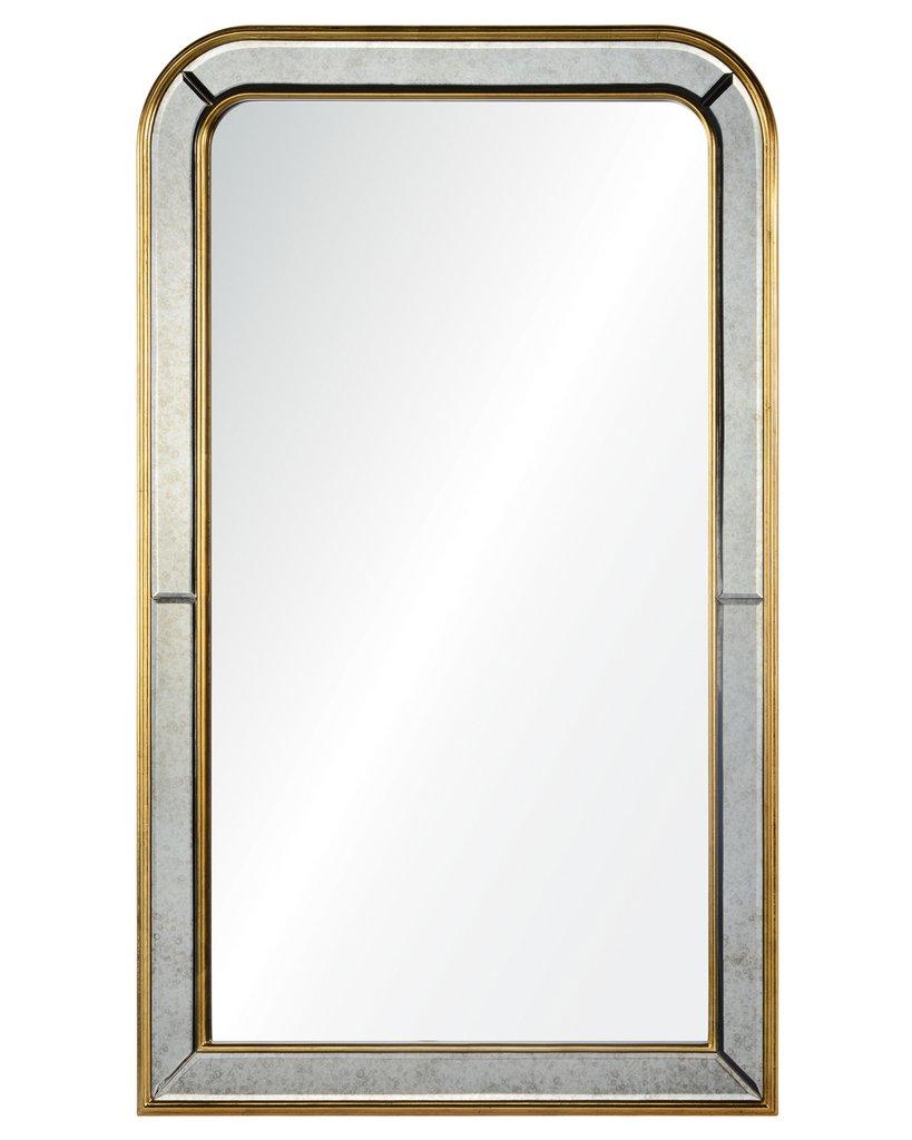 Настенное зеркало в арочной раме