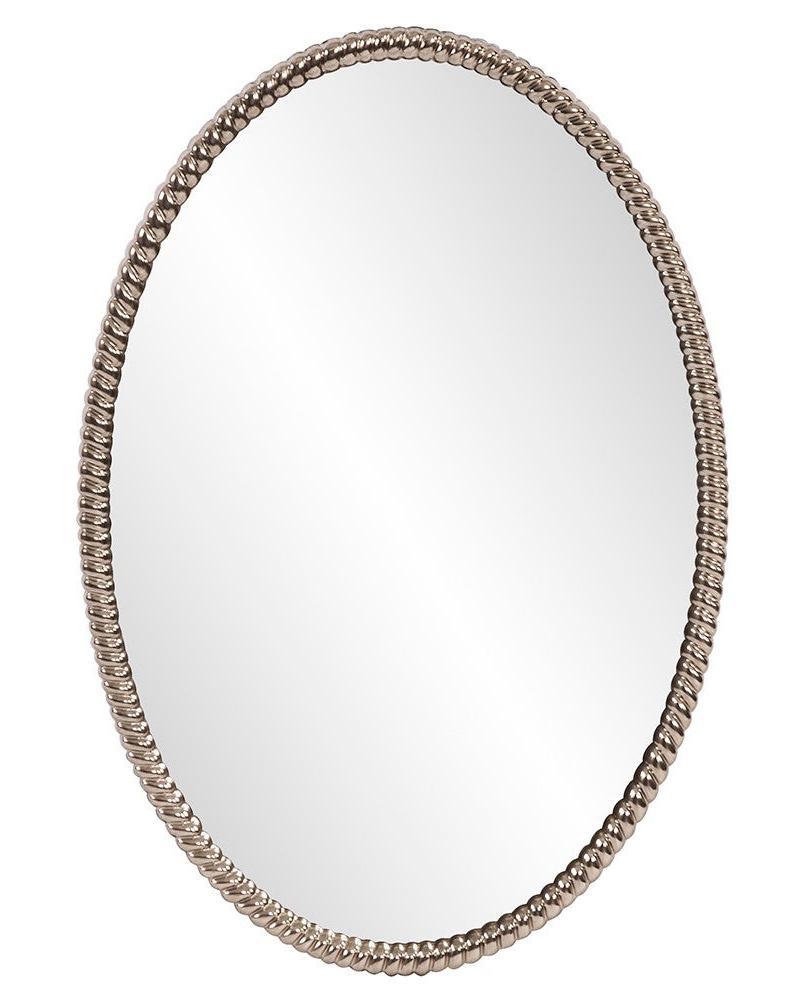 Овальное серебряное зеркало