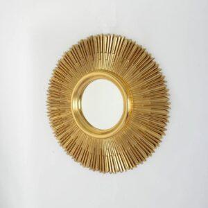 Круглое зеркало в золотой раме «Вальтер»