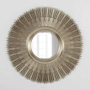 Круглое зеркало в серебряной раме «Вальтер»
