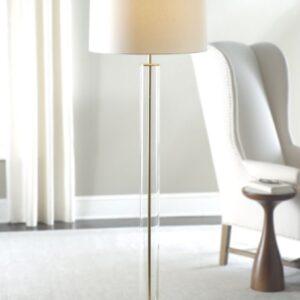 Золотая напольная лампа «Томас»