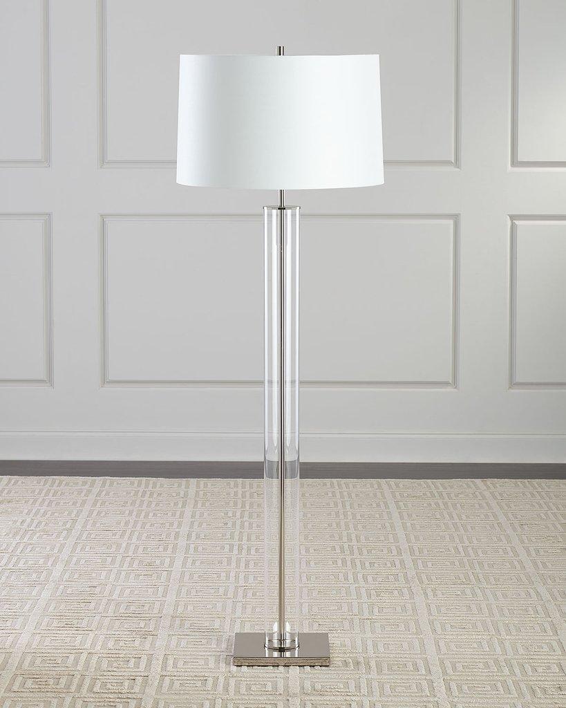 Серебряная напольная лампа