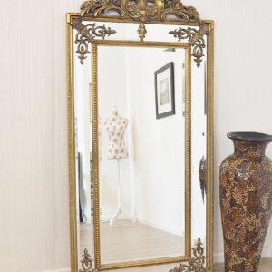 Золотое напольное зеркало «Пабло»