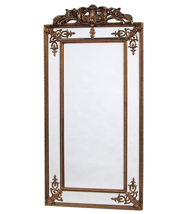 Золотое напольное зеркало