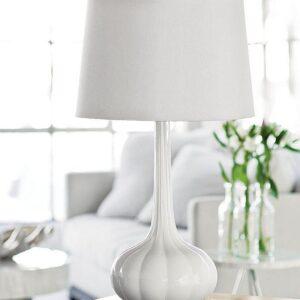 Белая настольная лампа «Спайк»