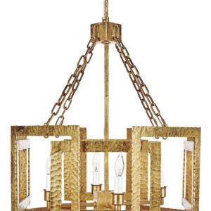 Восьмиугольная золотая люстра «Тобиас»