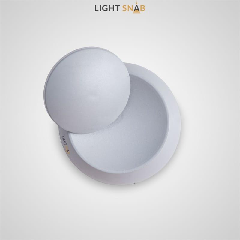 Настенный светодиодный светильник Acies круглой формы с поворотным дискообразным рассеивателем