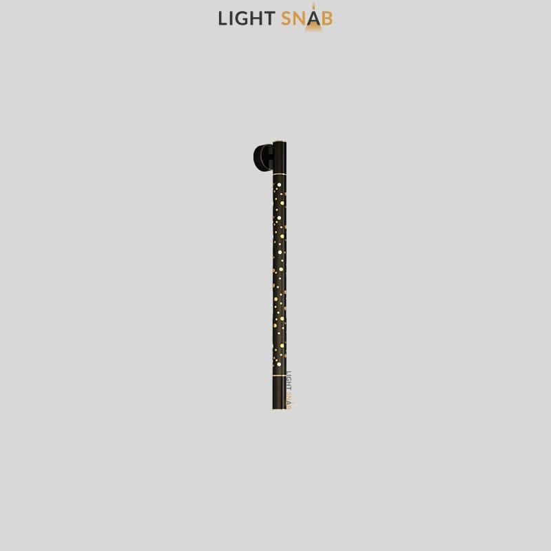 Настенный светильник Aleksa Wall размер M цвет латунь + черный
