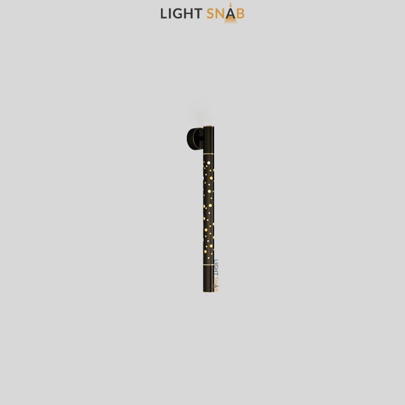 Настенный светильник Aleksa Wall размер S цвет латунь + черный
