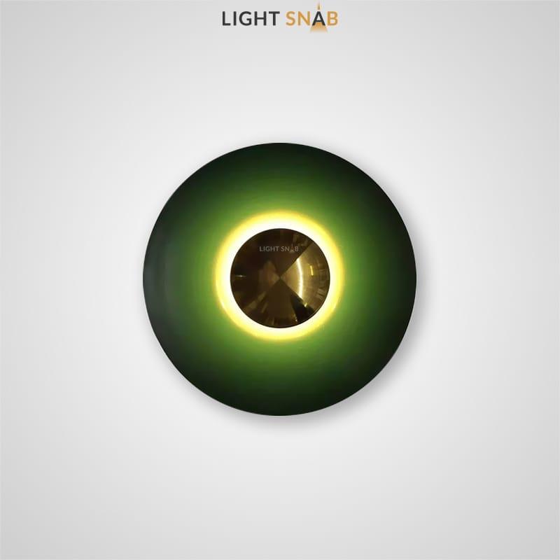 Настенный светодиодный светильник Alesta размер цвет зеленый