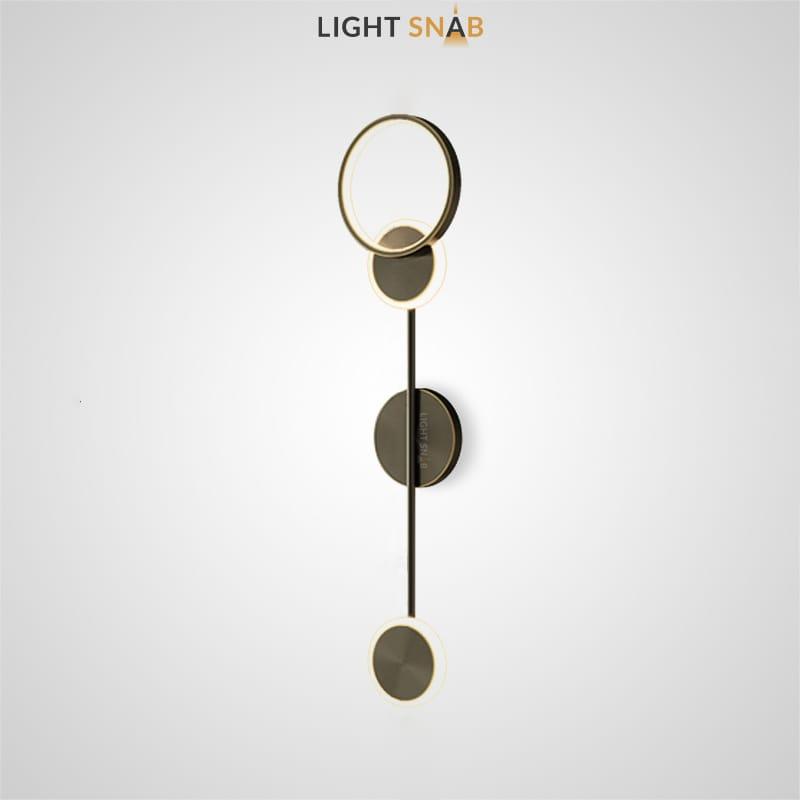 Настенный светильник Amber цвет черный