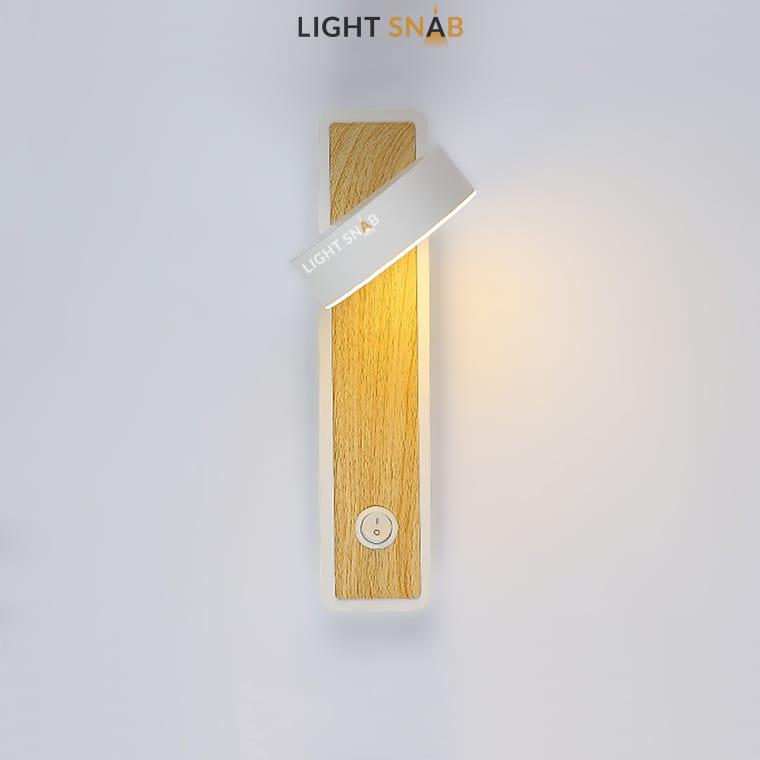 Настенный светильник Amo цвет белый
