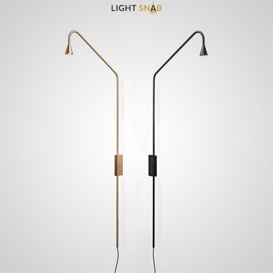 Настенный светодиодный светильник Arend на высокой стойке с металлическим плафоном в форме конуса