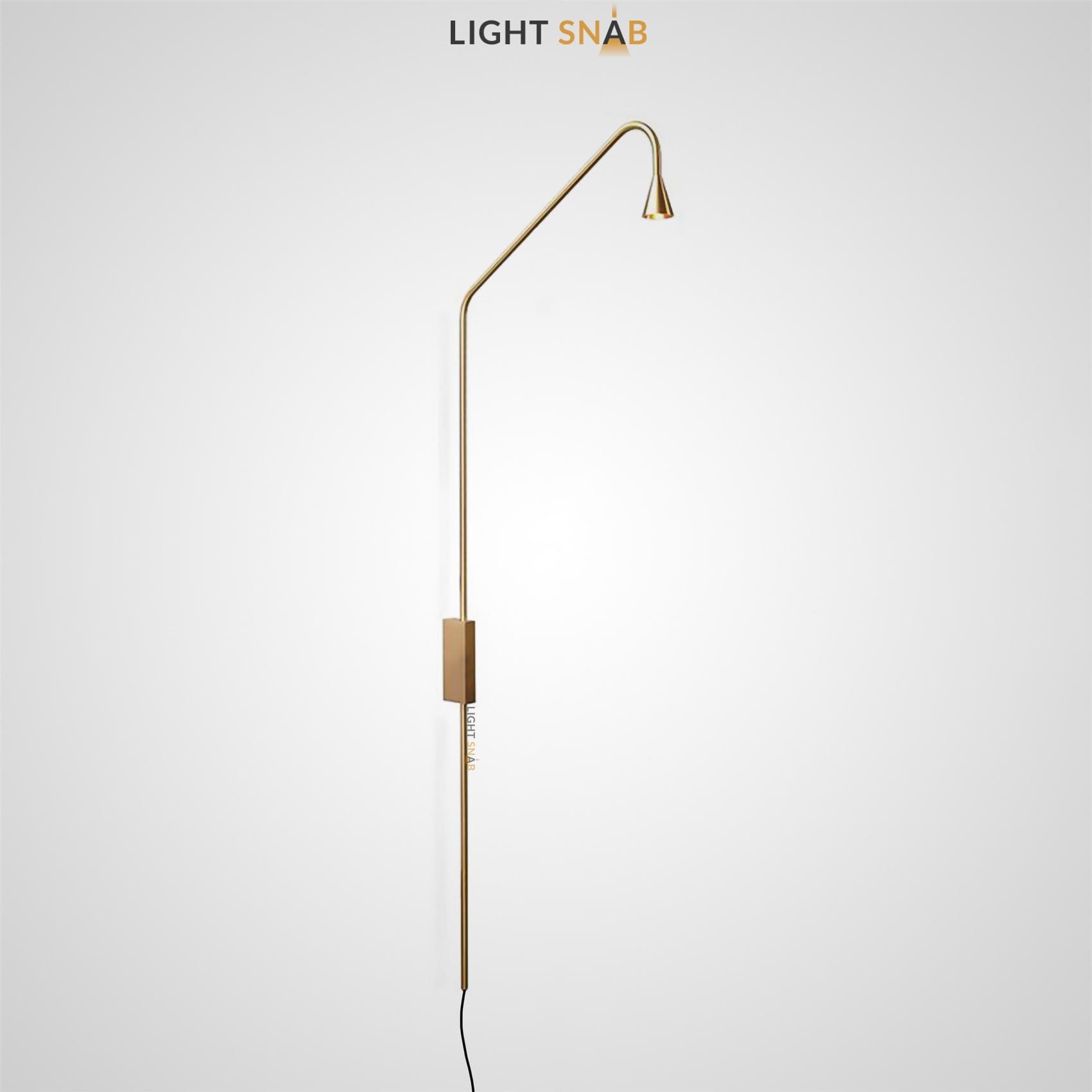 Настенный светодиодный светильник Arend цвет латунь