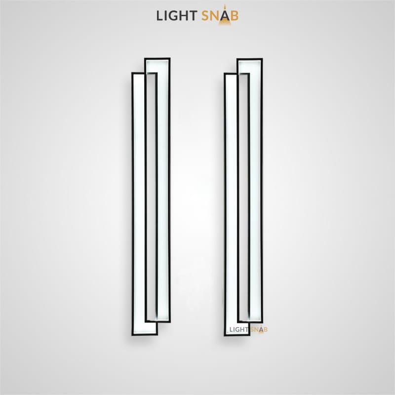 Настенный светодиодный светильник Arisaig Wall из двух прямоугольных панелей