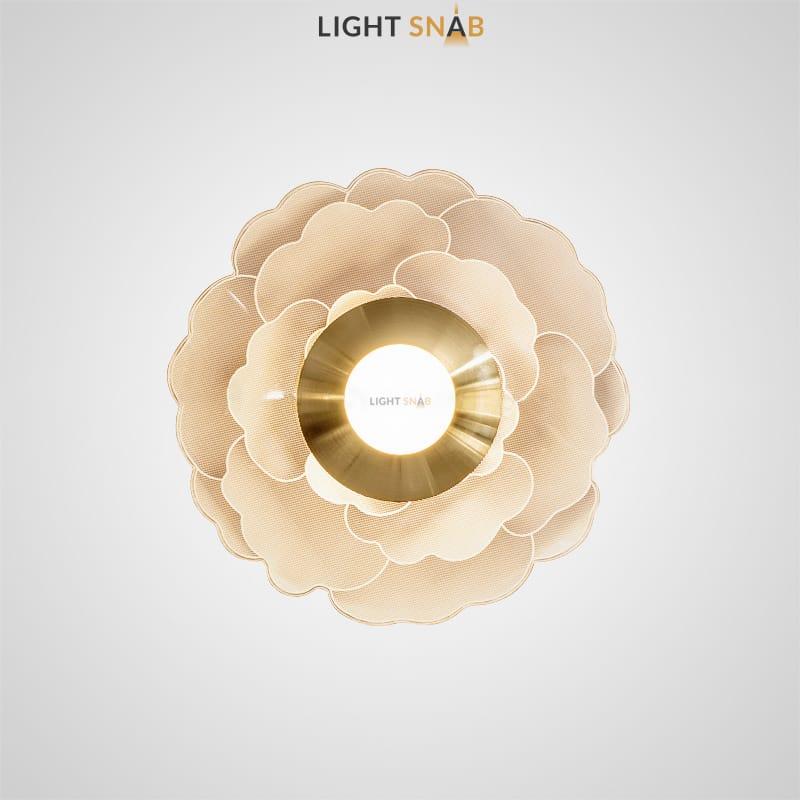 Настенный светильник Arven круглой формы из акрила с гравировкой