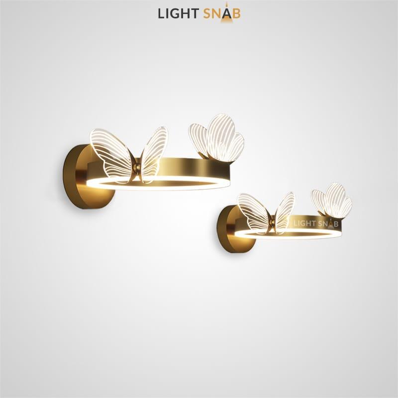 Настенный светодиодный светильник Babetta Wall Ring с декоративными светящимися бабочками на кольцевом каркасе с LED-свечением