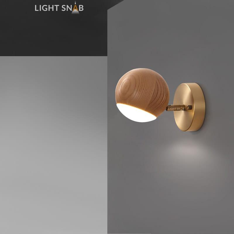 Настенный светодиодный светильник Berny модель A светлое дерево
