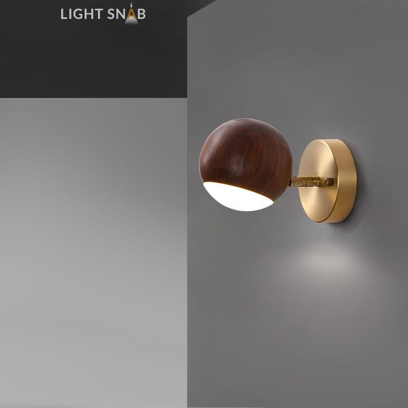 Настенный светодиодный светильник Berny модель A темное дерево