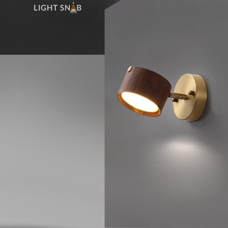 Настенный светодиодный светильник Berny модель B темное дерево