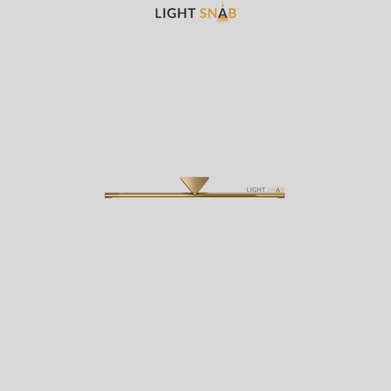 Настенный светодиодный светильник Breeze размер S цвет латунь