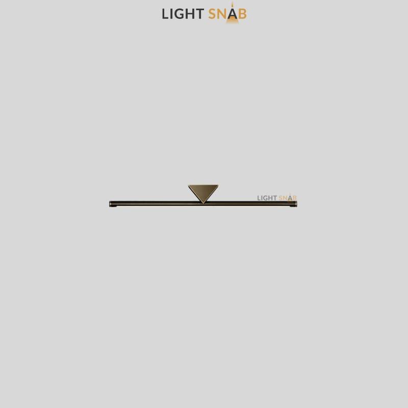 Настенный светодиодный светильник Breeze размер S цвет латунь + черный