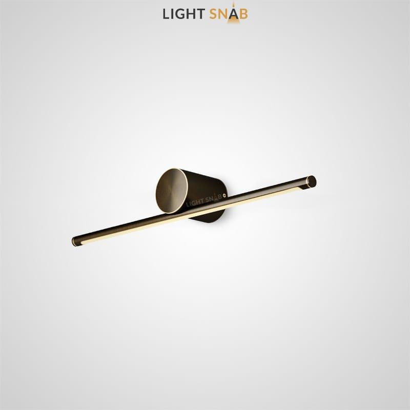 Настенный светодиодный светильник Breeze B размер S цвет латунь + черный