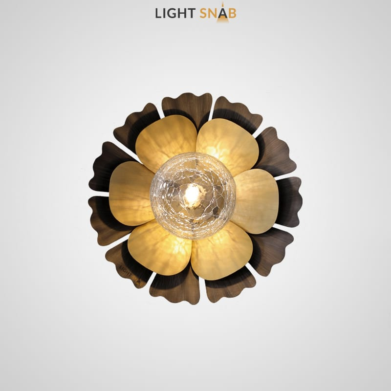 Светильник-бра Camellia Wall модель D плафон прозрачный кракелированный