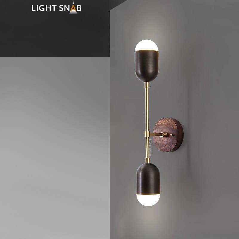 Настенный светодиодный светильник Chris модель B цвет черный свет теплый