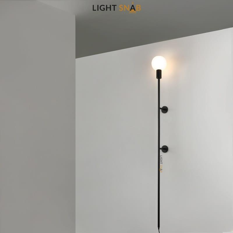 Настенный светильник Denny размер M цвет черный