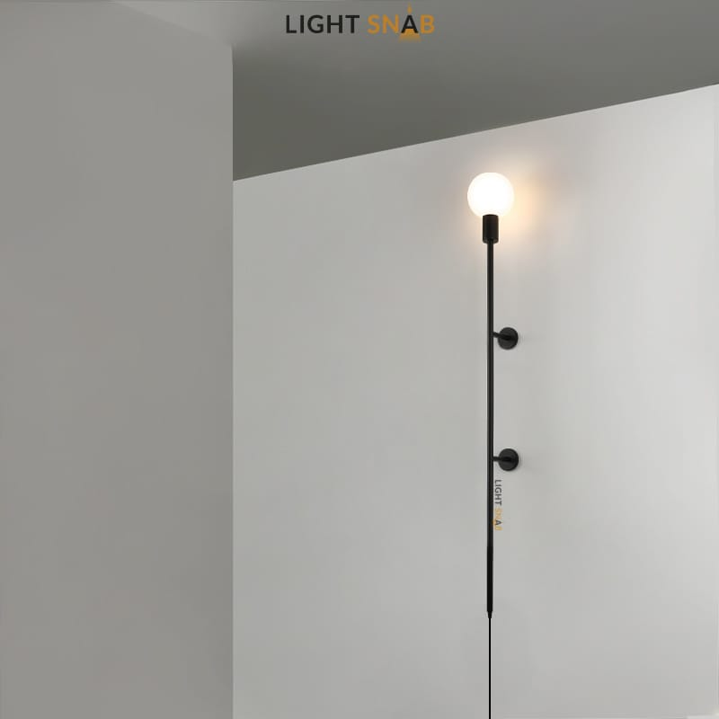 Настенный светильник Denny размер S цвет черный